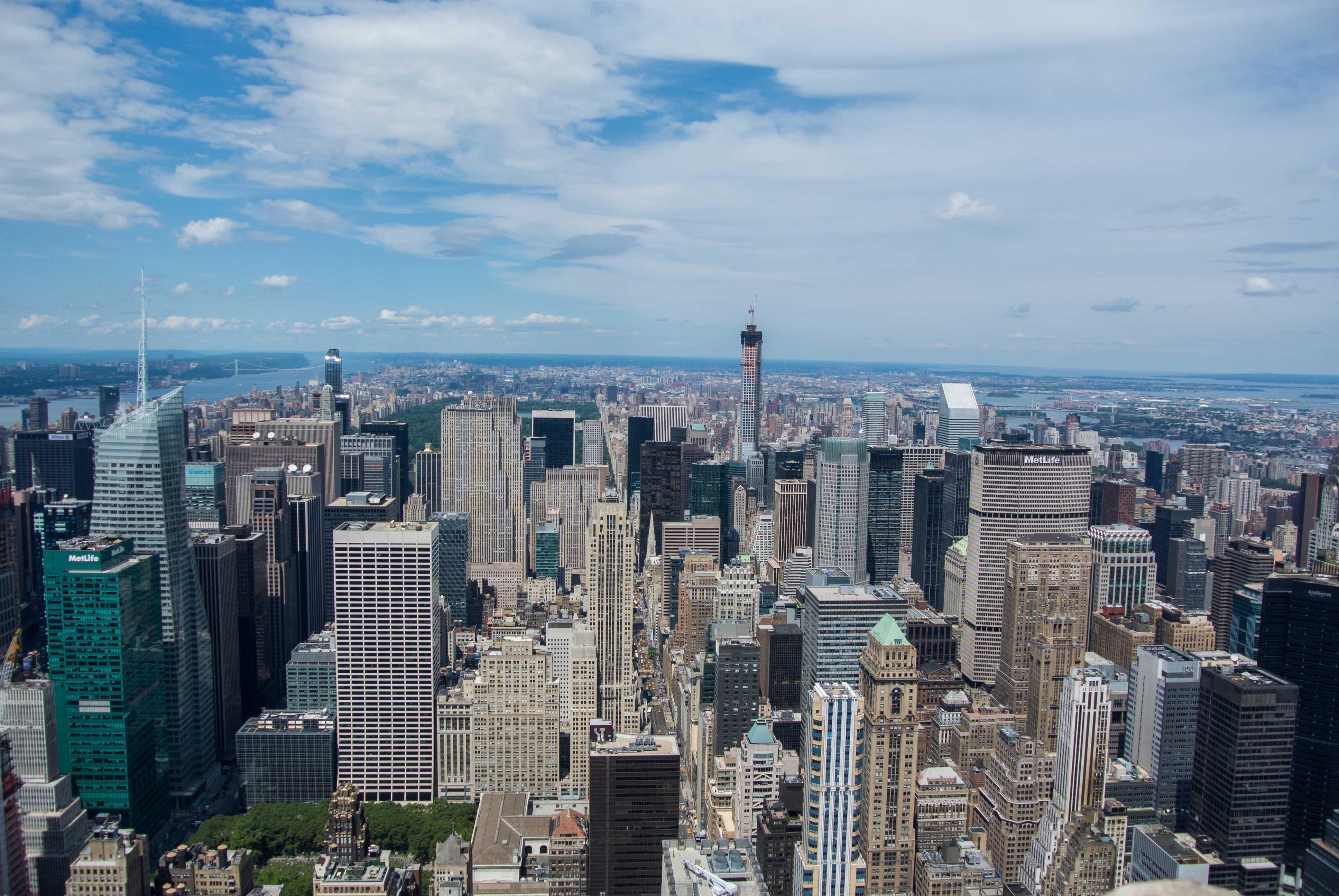 Vue du  haut de l'Empire state building